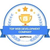Top Web Development awarded by Goodfirms